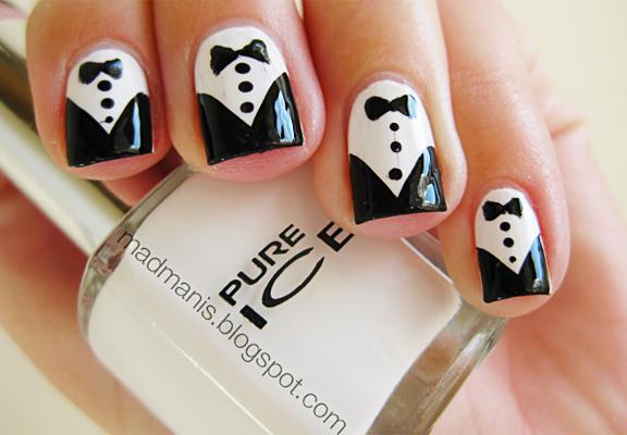 prom-nail-art-tuxedo