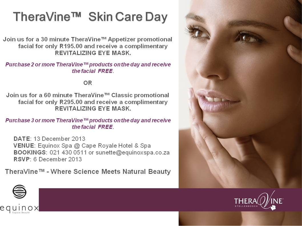 Equinox Spa_TheraVineT  Skin Care Day_13 Dec 2013