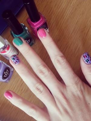 leopard print nail diy fashionjazz 3