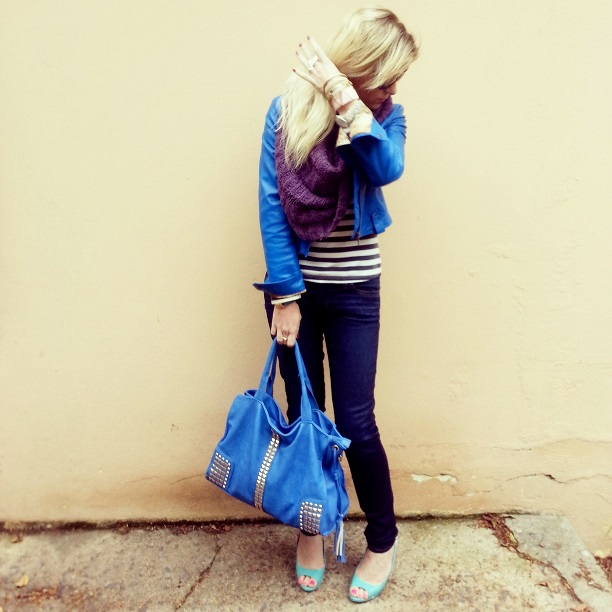 FASHIONJAZZ BLUE AND STIPES