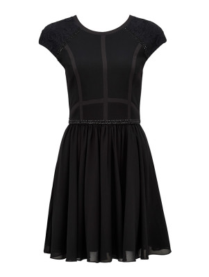 DRZ4371_BLACK Judy embellished bodice dress PARIS BELLE R1299 (1)