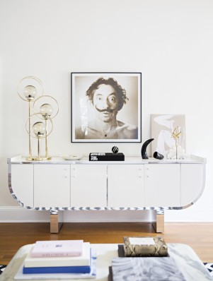 15-Le-Fashion-Blog-Fashionable-Home-Laura-Naples-Kristen-Giorgi-NG-Collective-For-Domino-By-Brittany-Ambridge-White-Chrome-Console