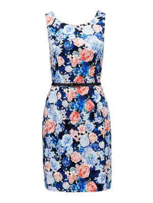 DR4374_FLORALPRINT Penny cross back bodycon PARIS BELLE R1199 (1)